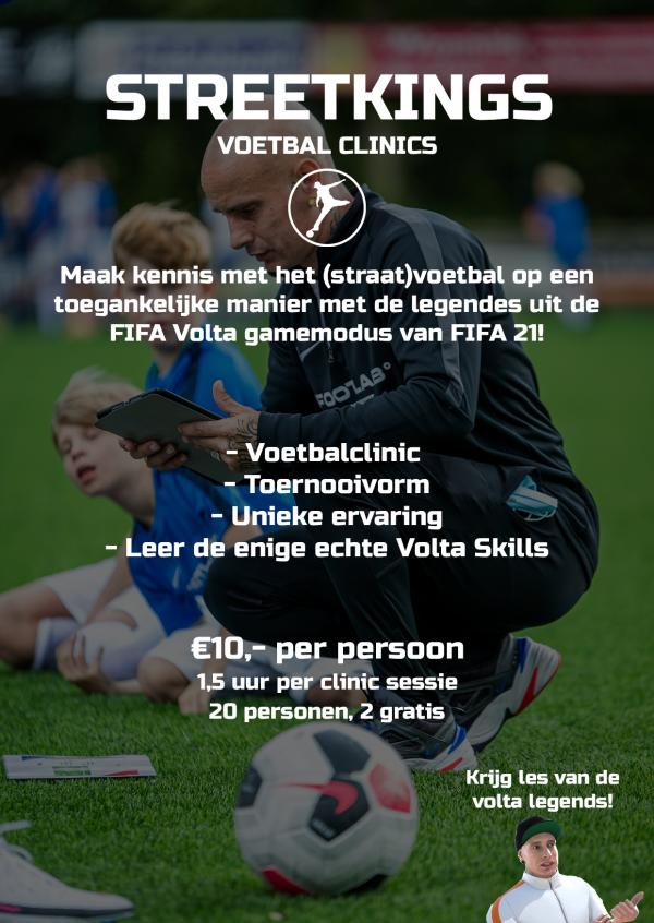 Flyer Voetbal clinic StreetKings